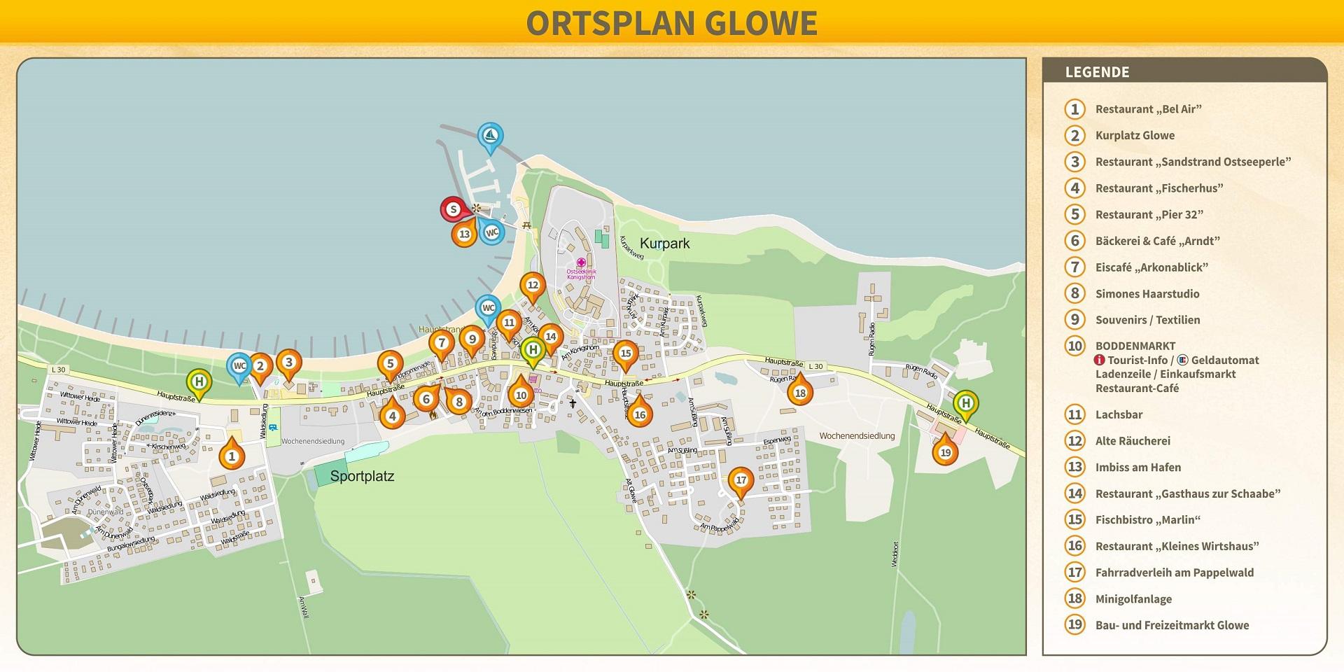 ORTSPLAN GLOWE